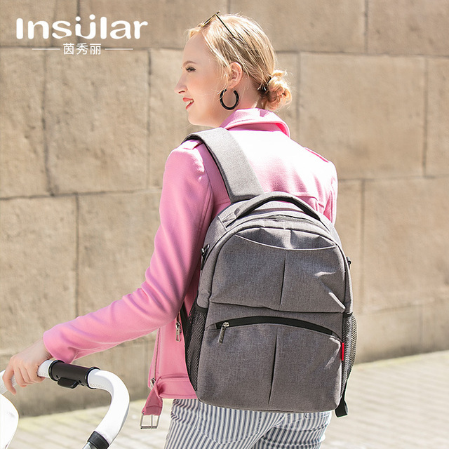 Insular Mummy Travel Backpack Maternity Nappy Bag changing mat Nursing Bag Baby large Diaper Handbag Stroller Bags wet bag dad