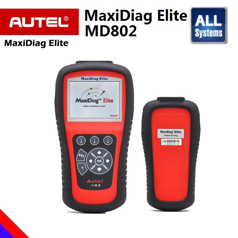 Autel MaxiDiag Elite MD802 PRO MD802 TODO o Sistema OBD Code Reader MexiCheck 2 Pro Melhor Do Que Sistemas 4 MD802