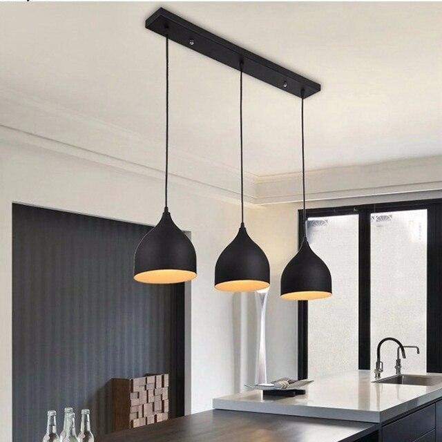 LukLoy lámpara de techo moderna Metal LED luces colgantes para el ...