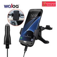WOJOQ Wireless Car Charger Holder Vehicle Charging Stand USB Quick Charger Vent Mount Holder For Samsung