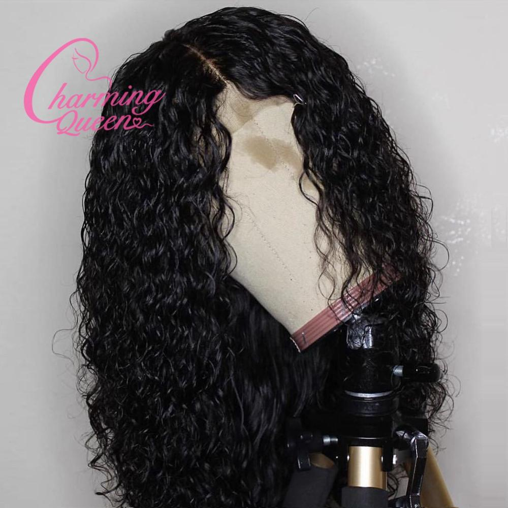 13 6 Deep Part Lace Front Human Hair Wigs For Black Women Water Wave Pre Plucked