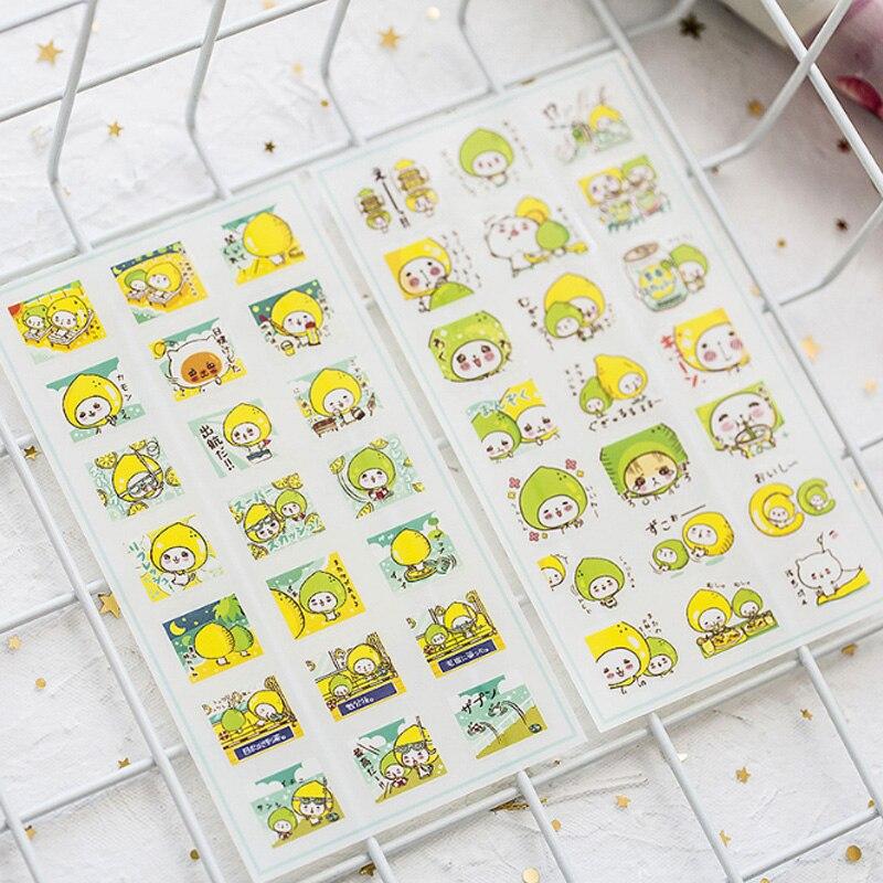 6Pcs lot Lemon girl PVC Sticker Decoration DIY Ablum Diary Scrapbooking Label Sticker Kawaii School office Stationery in Stationery Stickers from Office School Supplies