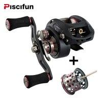 Piscifun SAEX ELITE Baitcasting Fishing Reel Extra LightwSpool Right Left Hand 13BB 7 3 1 167g