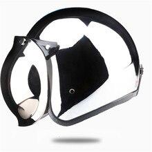 Vintage Scooter Retro Helm Motorfiets Cruise Helmen Chroom Zilver Spiegel Kleur Half Open Gezicht Moto Retro Helm