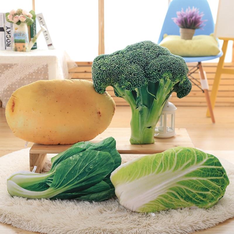1pc 50cm Creative Simulation Vegetable Plush toy Broccoli potato stuffed soft vegetable Pillow Cushion for Kid's Christmas gifts