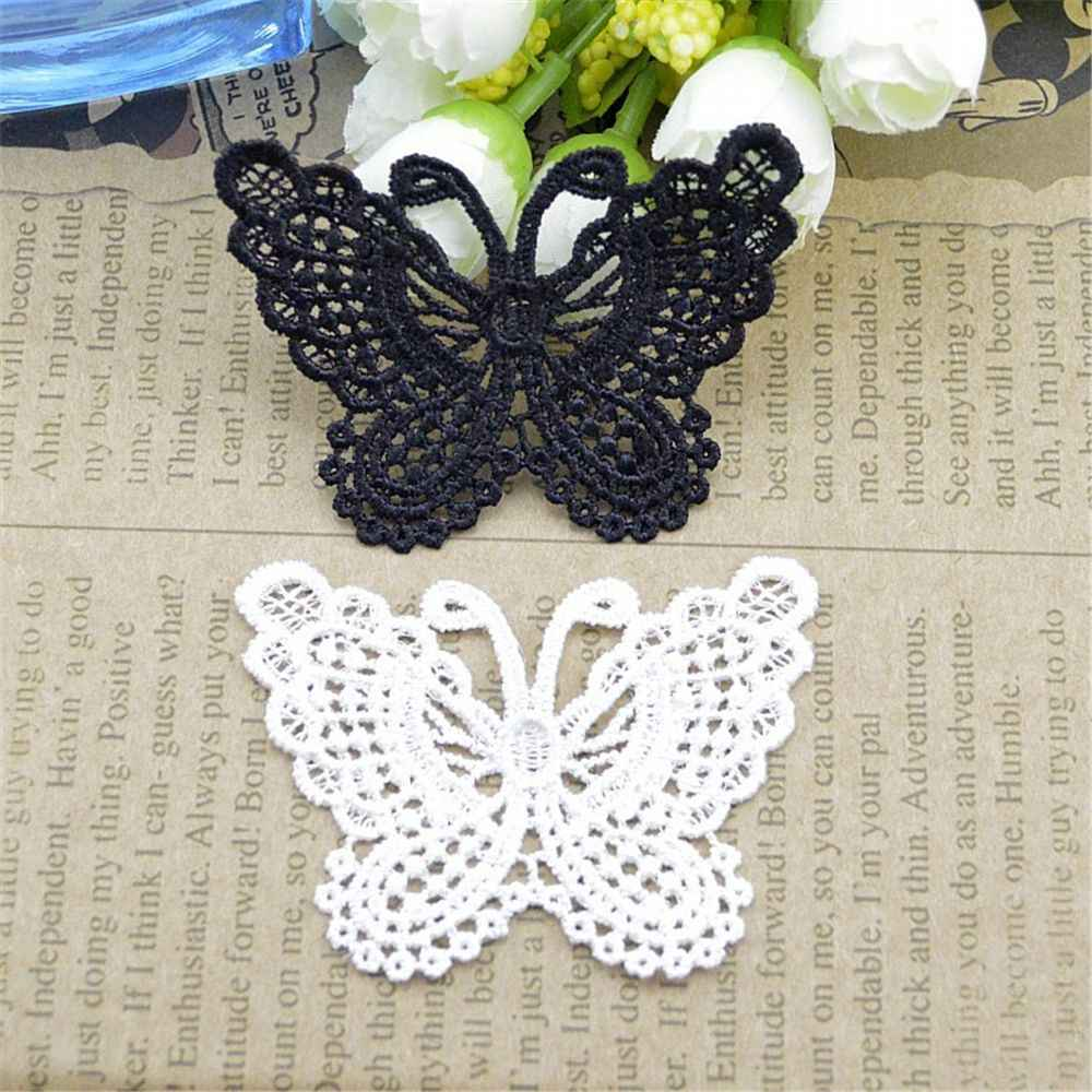 12pcs/set  Butterfly Lace Clothing Accessories Exports Fine Bow Soluble Embroidery  Wedding Dress Children's Clothing HOT Sale