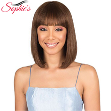 Sophie's перуанские Remy человеческие волосы парики для женщин короткие прямые Боб человеческие волосы парики для женщин#4 10 дюймов H. BRZANICE