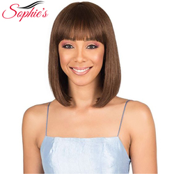 Sophie's Peruvian Remy Human Hair Wigs For Women Short Straight Bob Human Hair Wigs for Woman #4 10inches H.BRZANICE