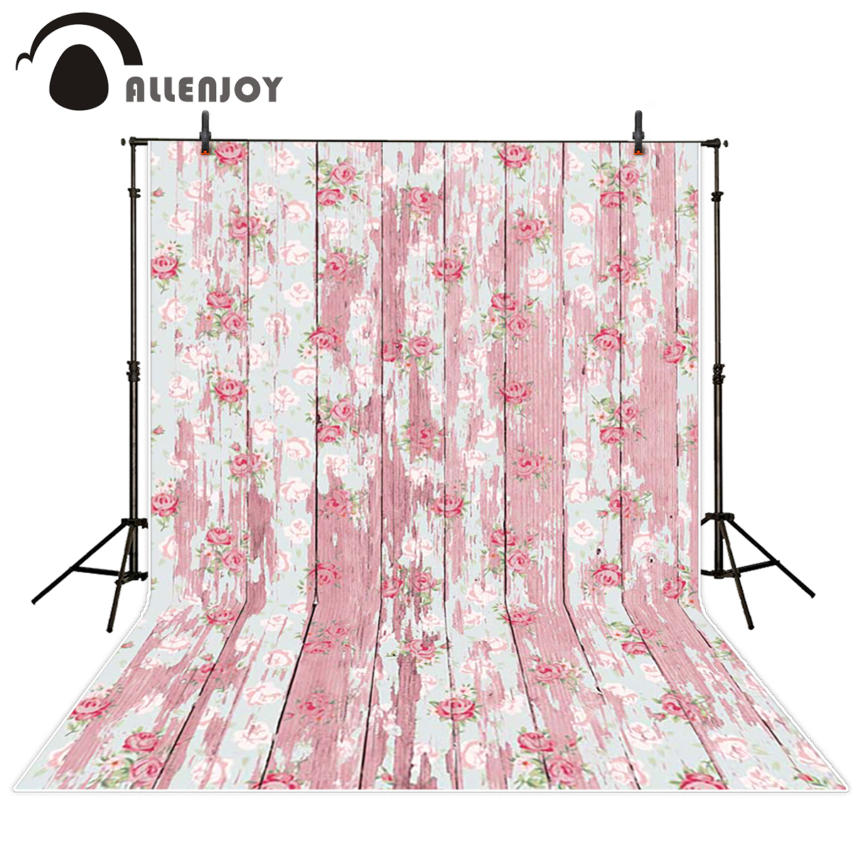 Allenjoy wood backdrop Roses pink wood vintage Background for photo Studio photo backgrounds fond studio photo background vinyl