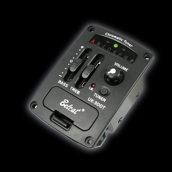 Livraison gratuite! BELCAT UK-300T ukulélé Égaliseur 2 Bande EQ avec Chromatique LED tuner POUR UKULÉLÉ