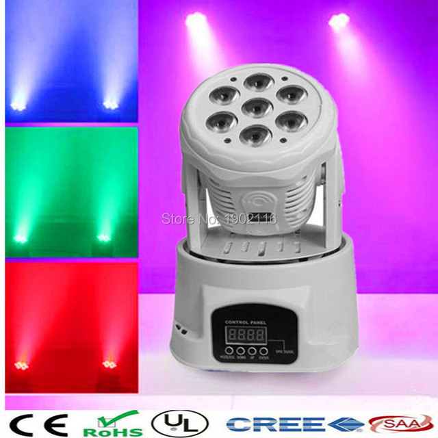 LED moving head light 7x12W DMX512 Projector 4in1 LED DJ stage light disco party Moving head light white color led beam lighting
