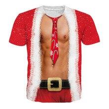 Рождественские футболки унисекс с принтом, футболка с короткими рукавами, Пуловеры с круглым вырезом, повседневный Топ