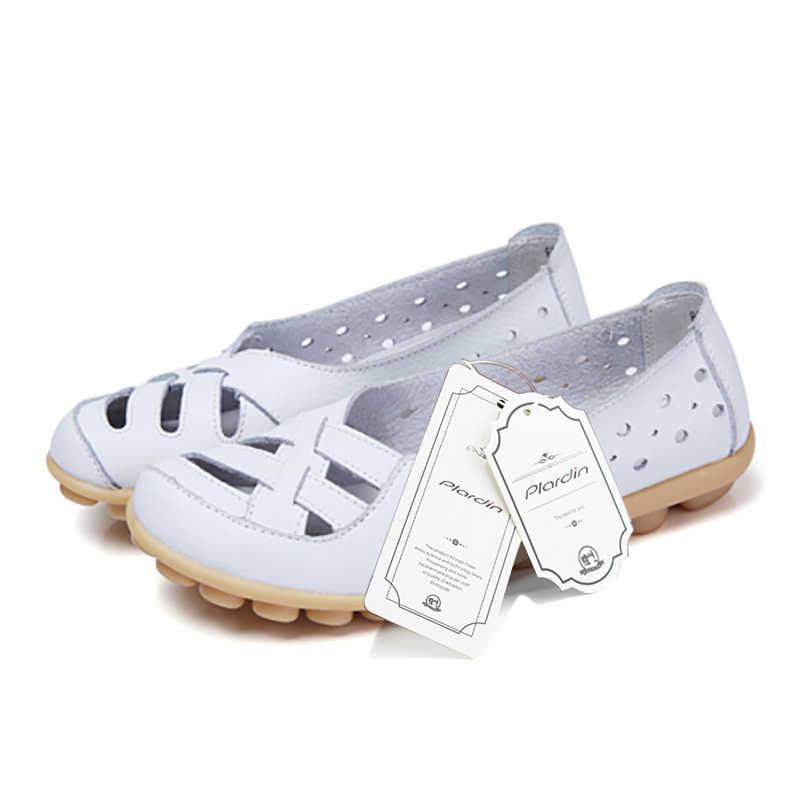 Plardin Plus Größe 35-44 Frauen Mode Neue Aushöhlen Wohnungen Schuhe Slip-on Comfort soft Casual Schuhe weibliche Faul Schuhe Frau