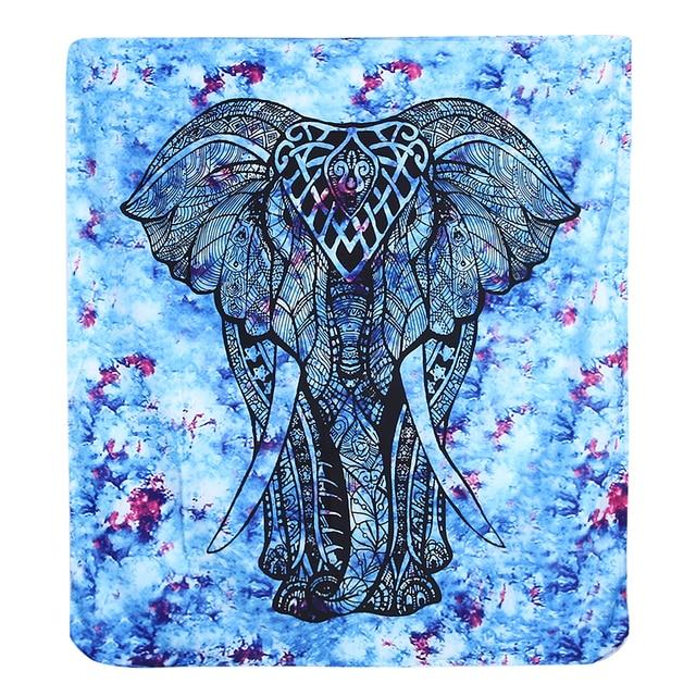 Elefante Indio Mandala Tapiz Tapiz De Color Impreso