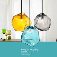 Nowoczesne  minimalistyczne lampy wiszące kreatywne kolorowe lampy szklany wisiorek restauracja lampy LED oświetlenie wewnętrzne domu w Wiszące lampki od Lampy i oświetlenie na