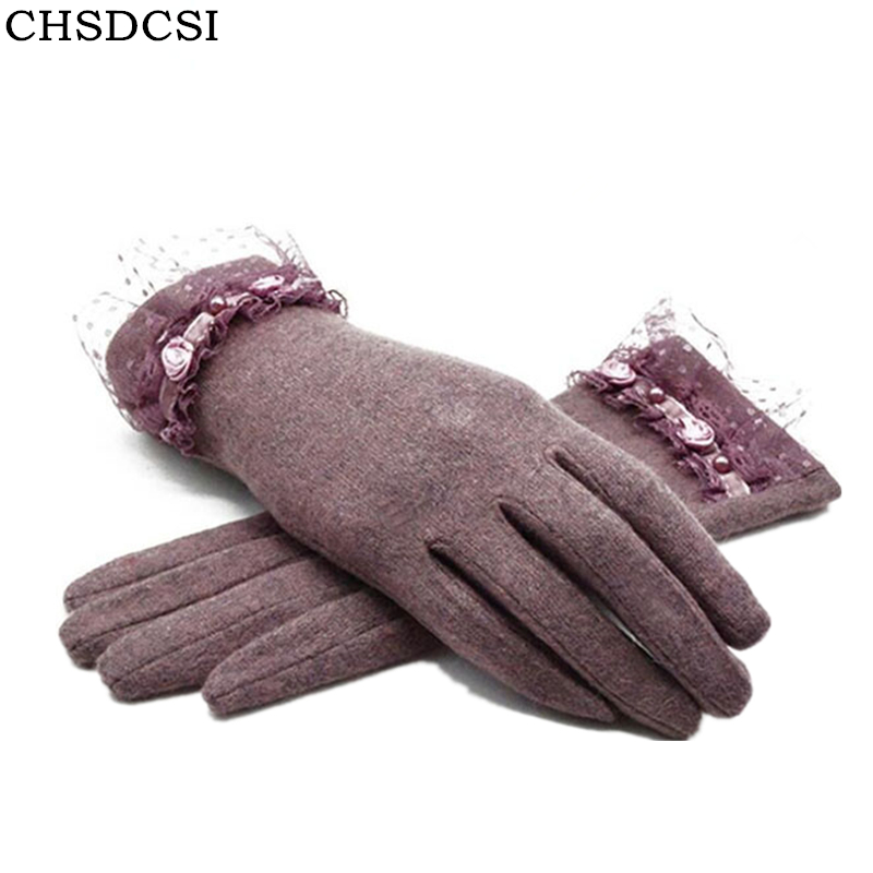 CHSDCSI New Autumn Winter Fashion Ladies Cashmere Gloves Fem