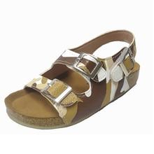 ULKNN Childrens sandals and slippers summer non-slip version cork bottom beach shoes big parent-child boys girls