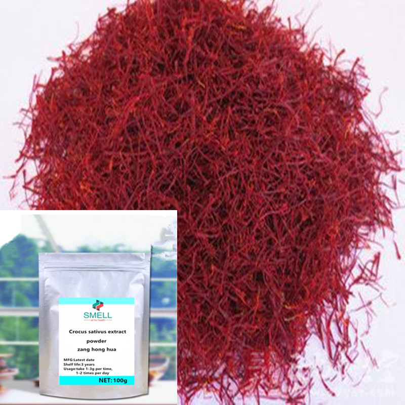 500g 1000g Saffron Extract Powder Zang Hong Hua Crocus Sativus