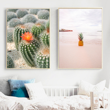 Cactus Pineapple Quotes Wall Art Canvas Painting Nordic Posters And Prints Scandinavian Wall Pictures For Living Room Home Decor цена