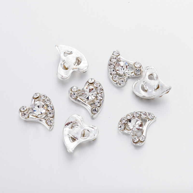 10Pcs bag 3D Nail Art Decorations Metal Rhinestones Heart shape Nails  Charms Diamonds For Manicure Decor-in Rhinestones   Decorations from Beauty    Health ... 55dfd09794ce