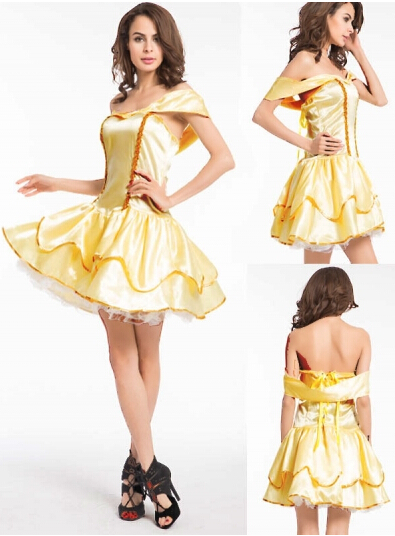 free shipping   new design zy871 cosplay snow white princess costume for lady Fancy Dress size s-2xl