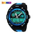 SKMEI Brand Men's Quartz Watch Men Sports Watches LED Military Digital Wristwatches Swimming Diving Hand Clock Montre Homme
