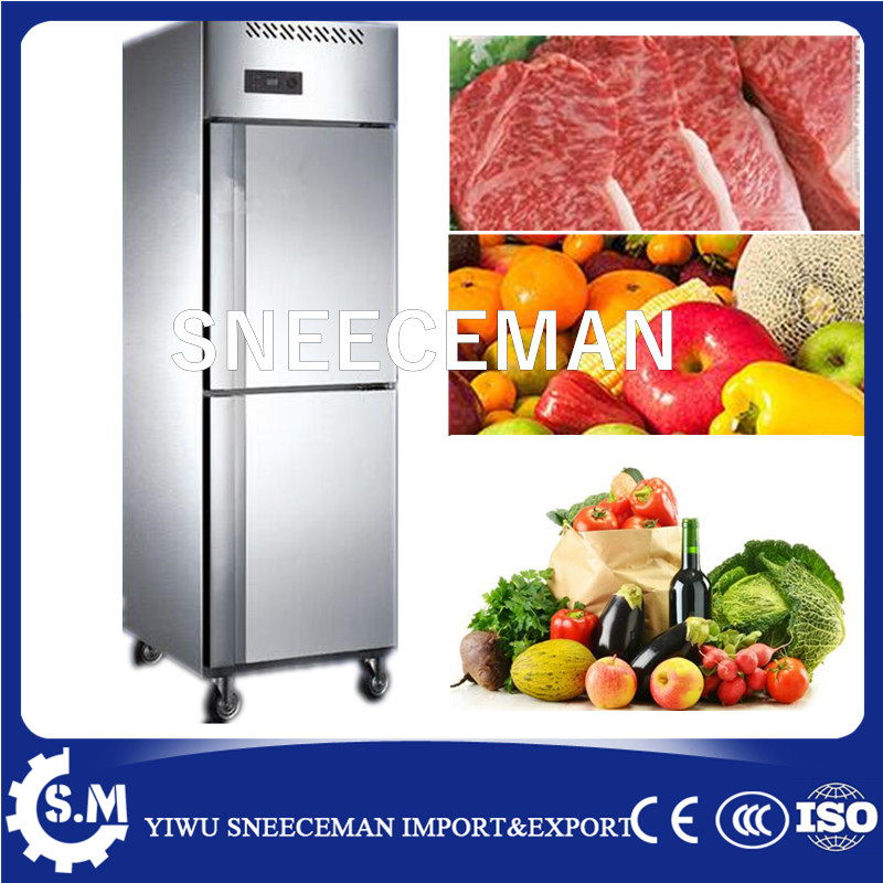 Commercial Restaurant Stainless Steel 2 Door Upright Fridge Deep Freezer/industrial Freezer