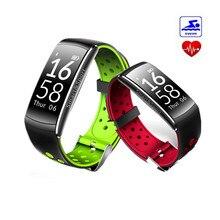 Оригинальный Смарт Браслет монитор сердечного ритма умный Браслет фитнес-трекер IP68 Водонепроницаемый Спорт SmartBand часы для iOS и Android