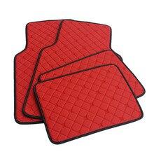 ZHAOYANHUA Universale Tappetini Auto Nero/Rosso 8 colori Accessori Interni In Pelle XPE