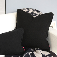 79% Cotton Nordic Style Cushion Cover Thickened Blended Fabric Black Pillow Cover No Balling-up Without Stuffing