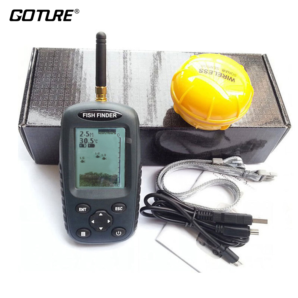 Russian and English Menu FF998 Wireless Fish Finder Sonar Portable Waterpoof Lake Sea Contour Thermometer Sounder Fishfinder menu чаша black contour