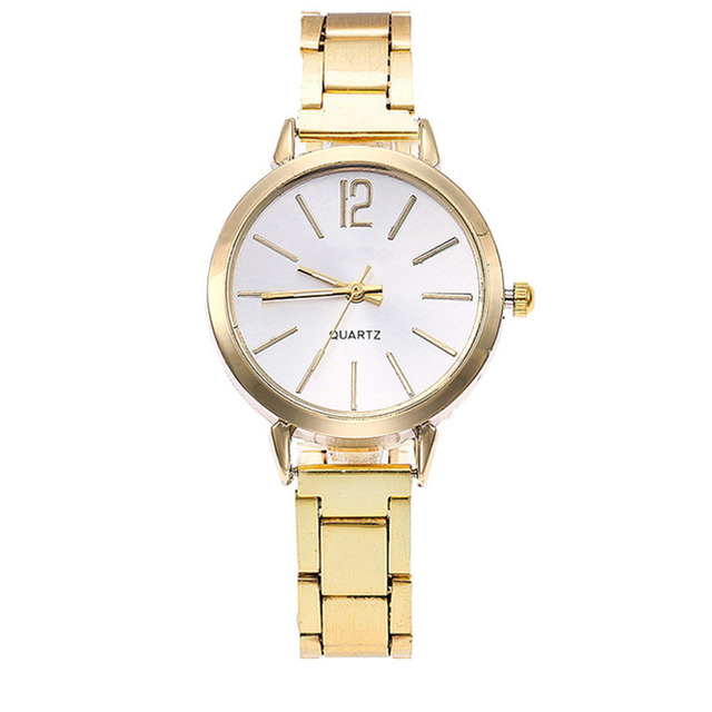 Watch Women Dress Stainless Steel Band Analog Quartz Wristwatch Fashion Luxury Ladies Golden Rose Gold Watch Clock Analog #A