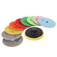 10 шт. 4 дюйма/100 мм алмазные диски для полировки M14 шлифовальный инструмент набор Mayitr для камень; бетон Мрамор