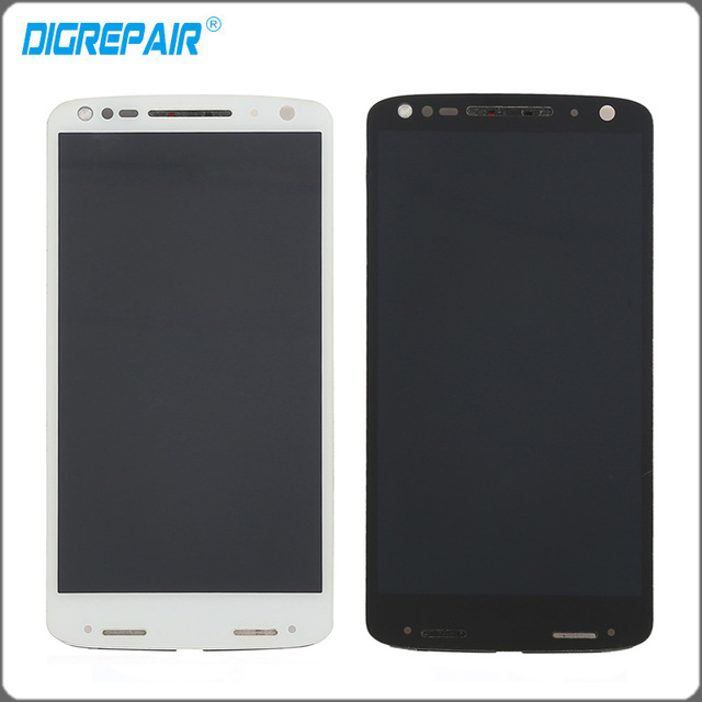 "5.43"" inch For Motorola Moto Droid Turbo 2 XT1580 XT1581 XT1585 LCD Display Touch Screen Digitizer with Bezel Frame Assembly"