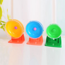 Small Pet Jogging Hamster Mouse Mice Exercise Toy Running Spinner Sports Wheel Pets Guinea pig Supplies Random Color