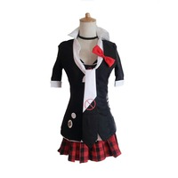 Danganronpa Cosplay Junko Enoshima Cosplay Japanese Anime Costume by Custom made full set school uniform for party