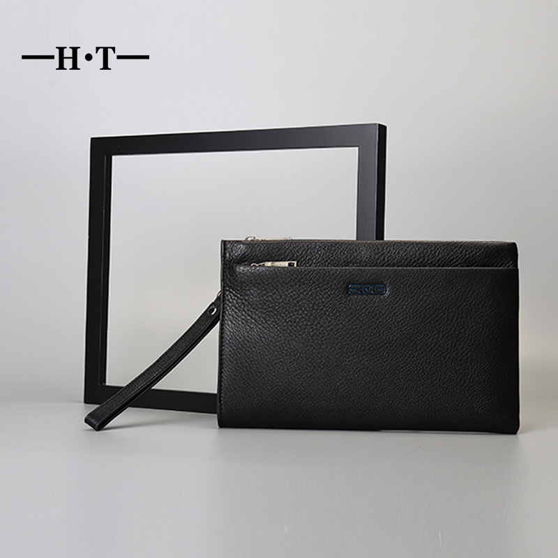 HT Brand Luxury Envelope Bag Men Clutch Bag Genuine Leather Long Zipper Wallet Purse Male Wrist Phone Bag Pouch Coin Card PocketHT Brand Luxury Envelope Bag Men Clutch Bag Genuine Leather Long Zipper Wallet Purse Male Wrist Phone Bag Pouch Coin Card Pocket