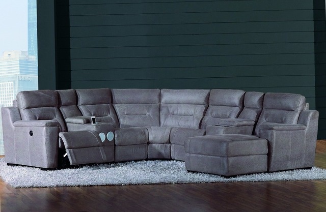 Promotion Top Selling Wholesale Living Room Corner 7pcs 6 Pcs,5pcs  Sectional Sofa YB571