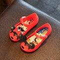 15-18.5cm Mini sed cool cartoon girls jelly sandals shoes cat bowtie plastic PVC 11 11 2016 big sale