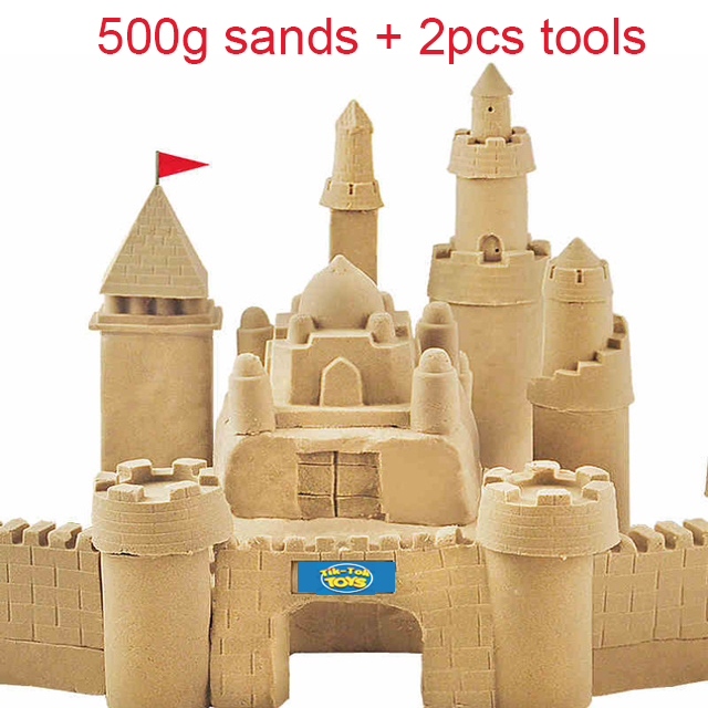 500g bag Kinetic Dynamic font b Educational b font Sand clay Amazing DIY Indoor Magic Playing