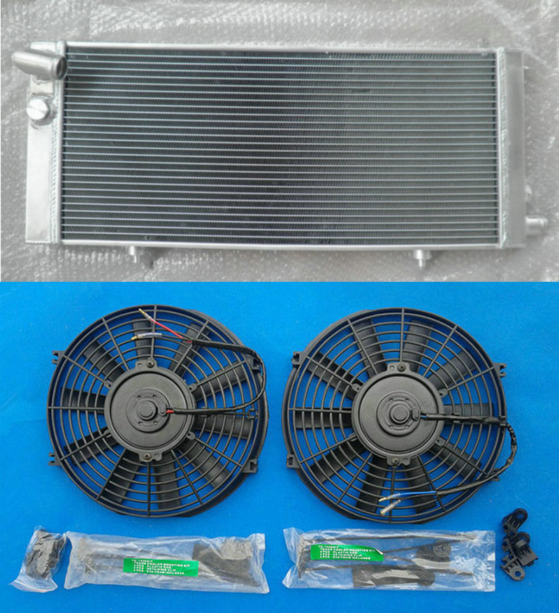 Aluminum Radiator 2 Fans For PEUGEOT 205 GTI 1 6L 1 9L MT 1984 1994 1985
