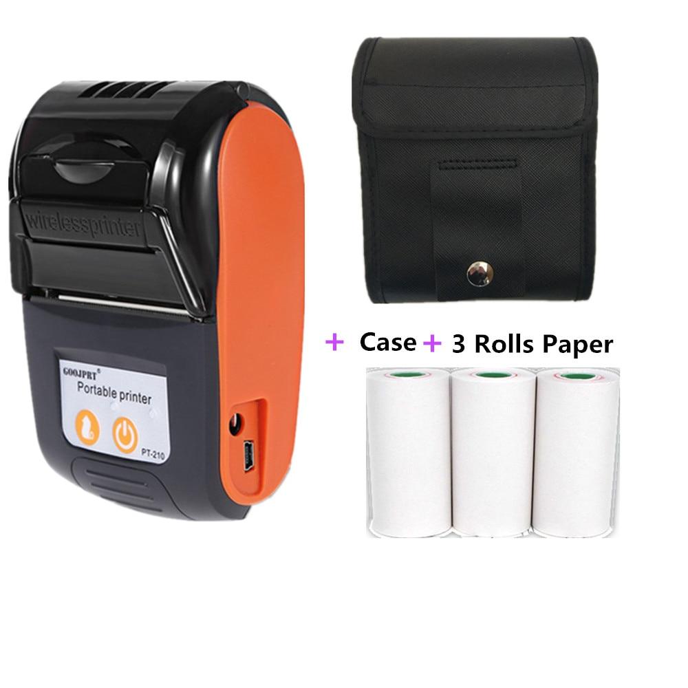 GOOJPRT беспроводной мини-Bluetooth-принтер 58 мм, портативный термопринтер для чеков, мобильный телефон Android iOS ПК, карманные чеки