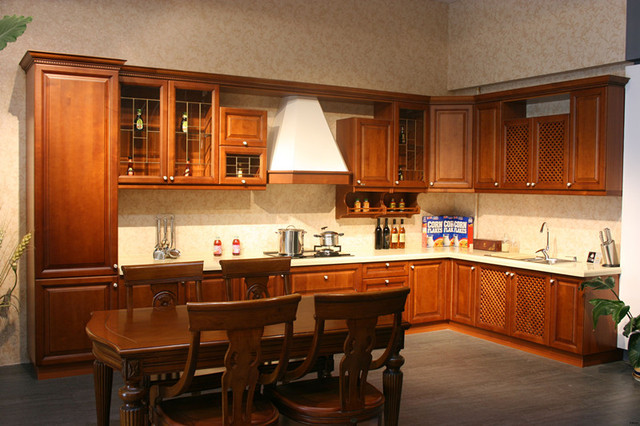 Us 436 59 Whole Kitchen Cabinet Kitchen Door Countertop Customize Fashion Rustic Solid Wood Yingtaomu Kitchen Cabinet In Kitchen Cabinets From Home