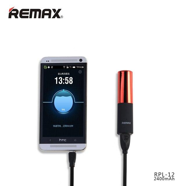 Remax RPL-12 2400 мАч Мини Помады Проектную Мощность Банк Резервного Экстра Банк Питания Внешний Аккумулятор Аварийного Резервного Питания