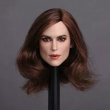 1/6 Scale GC007 Keira Knightley Head Sculpt with Short Blond Hair for Female Figures Bodies 1 6 scale kt005 female head sculpt long hair model toys for 12 inches women bodies figures