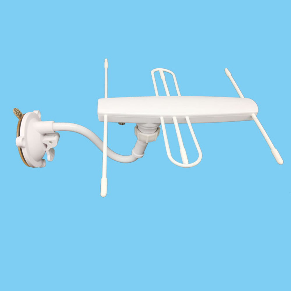TV-023 Universal HDTV Digital TV Antenna Waterproof Protective Shell 30-50 Miles Range Active Directional Antenna 28dBi High Gain Fixed By Bracket And Nut