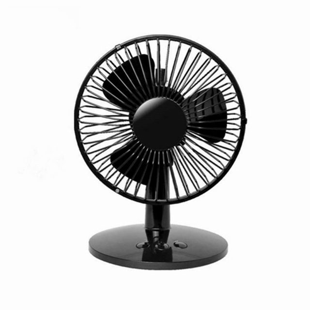 2019 Rotatable Metal Oscillating Table Fan Personal Desk Mini Fan Computer Laptop Cooler Cooling USB Fan for Office Home Dorm