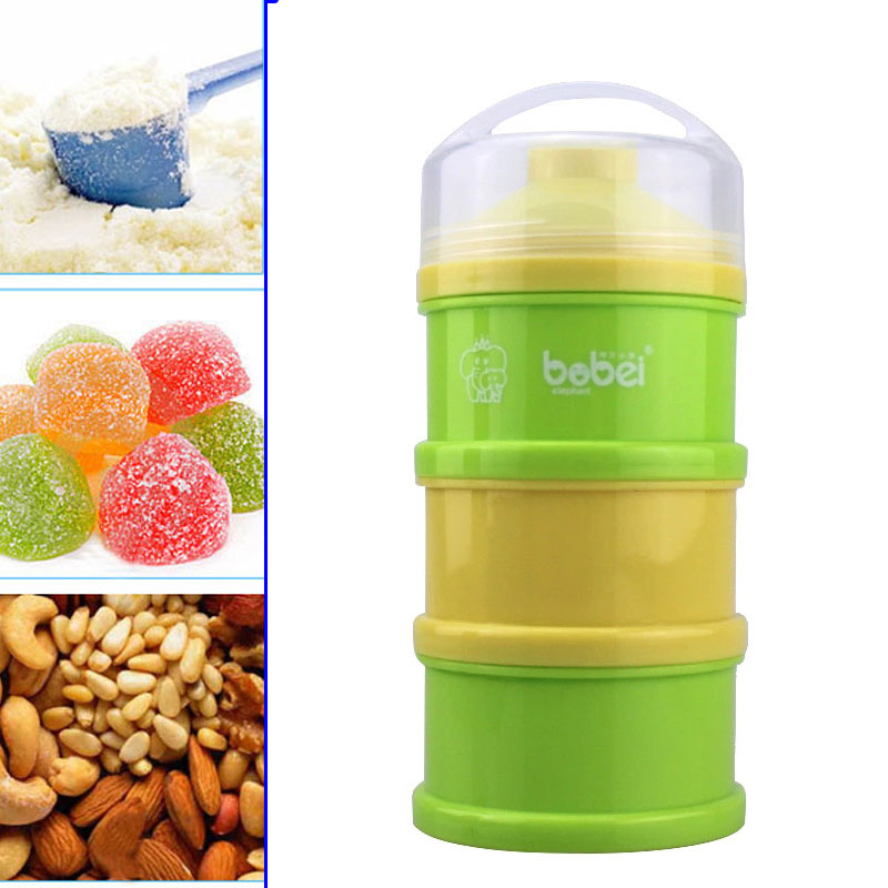 3 Layers Portable Newborn Infant Milk Powder Container Baby Feeding Food Bottle Dry Fruits Snacks Candy Storage Box 88