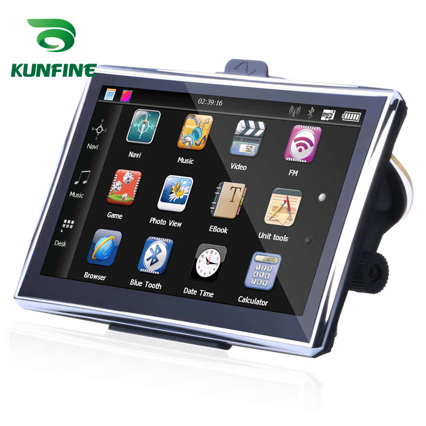 Navigation Car Gps Rear-View-Camera Screen Fm-Radio with 4GB 128M Truck Free-Map Upgrad
