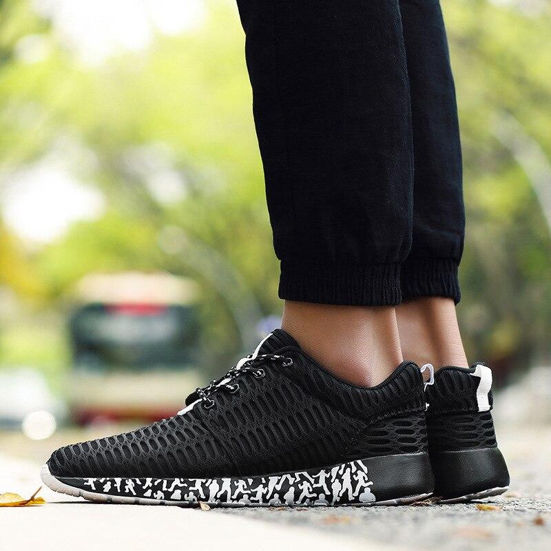 Mode Peu Lacets Hommes Noir À Respirant Air Vulcaniser Bas Chaussures Décontractées De rouge gris Printemps Mesh Profonde Coudre Sneakers Solide Automne AwadvqA